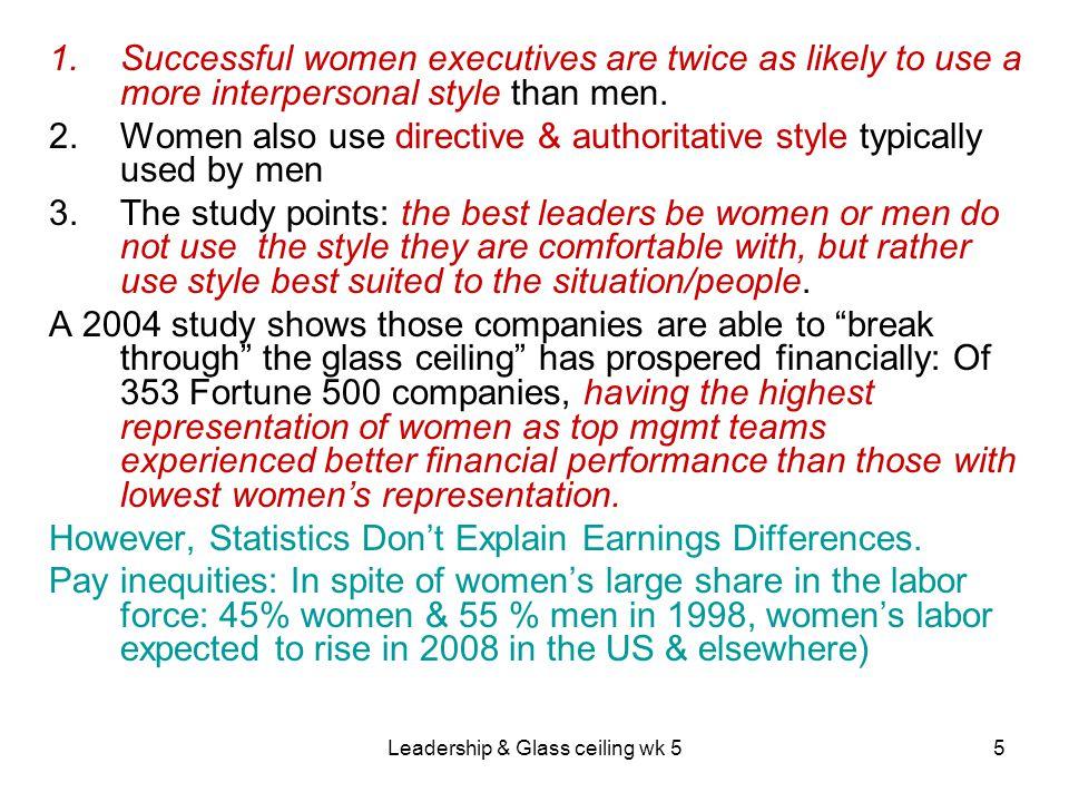 Leadership & Glass ceiling wk 526 2.