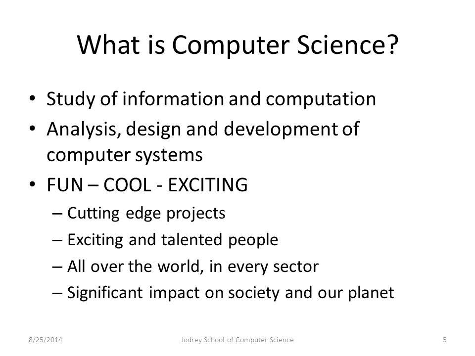 Alumni: Words of Wisdom Chris Martel - Class of 08 – Programmer/Analyst – Stats Canada Rob O'Quinn – Class of 05 – Senior Software Engineer – HB Studios, Lunenburg 8/25/2014Jodrey School of Computer Science56