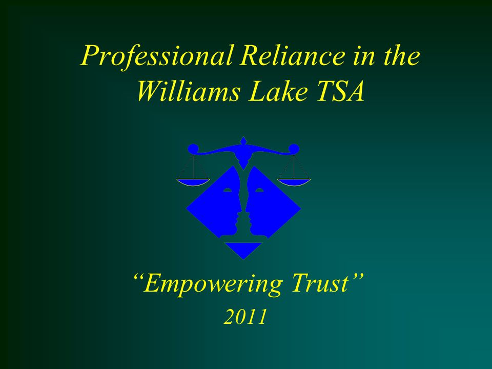 Professional Reliance - Empowering Trust Thank-you for your kind attention.