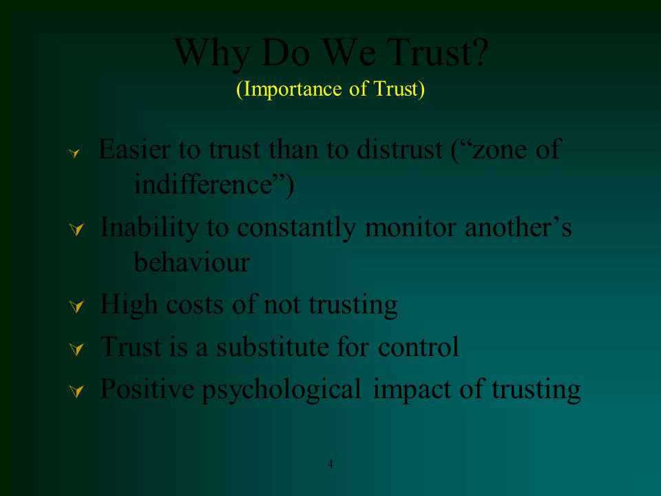 5 Why do we trust.
