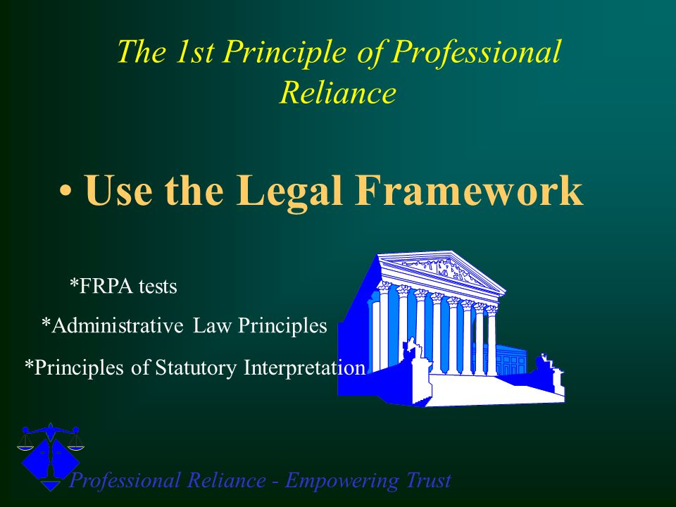Professional Reliance - Empowering Trust Guiding Principle Wrap-up Review 1.