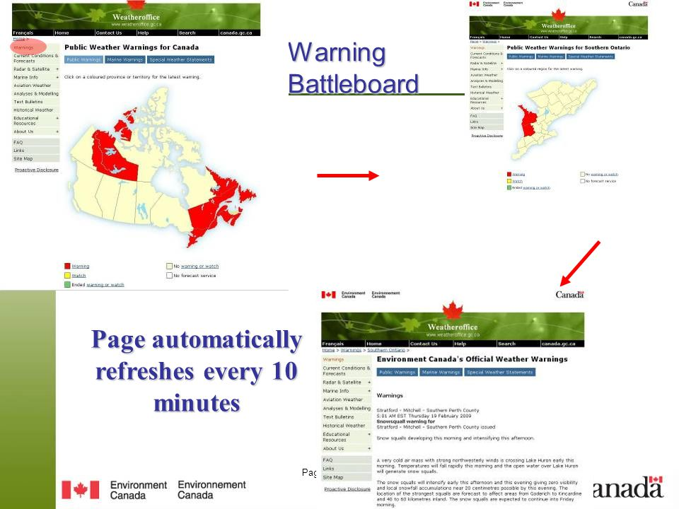Page 37 – August 25, 2014 Warning Battleboard Page automatically refreshes every 10 minutes