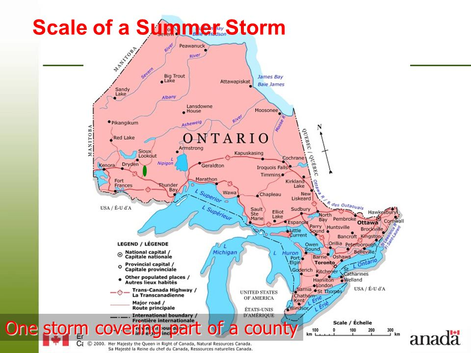 Page 17 – August 25, 2014 CANWARN Training Northwestern Ontario Spring 2011 Week of June 13 th –June 13 Thunder Bay – 7 PM - McIntyre Building Rm.