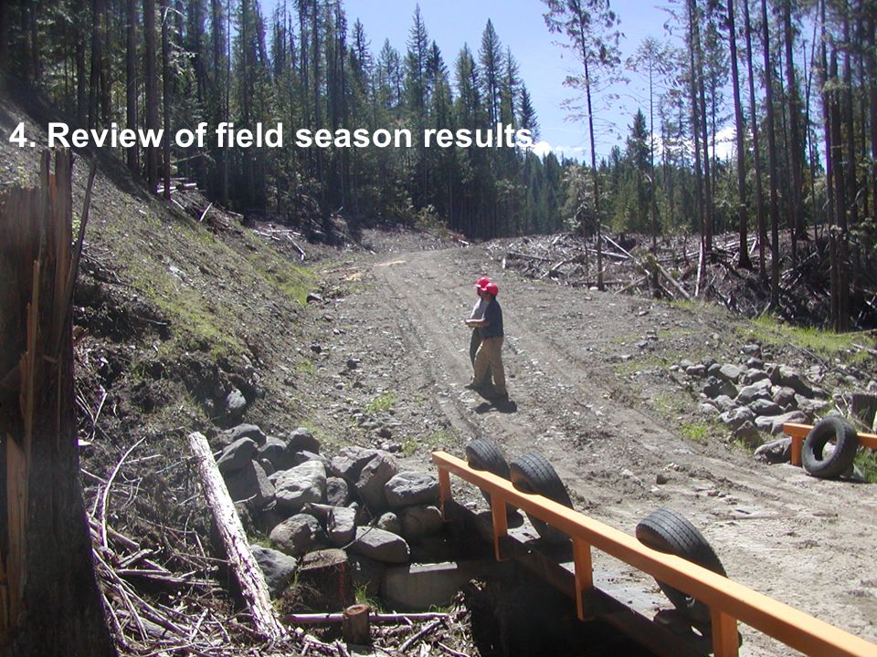 4. Review of field season results