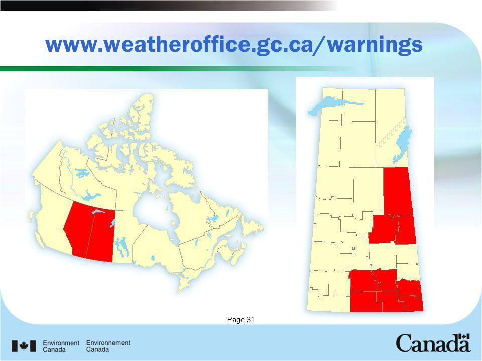 Page 31 www.weatheroffice.gc.ca/warnings