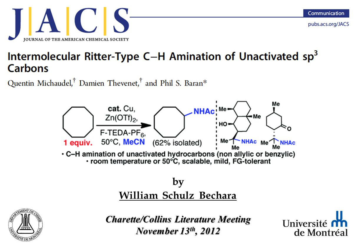 The History of C–H Amination ¨In 1878, the structure of piperidine was still unknown, and A.