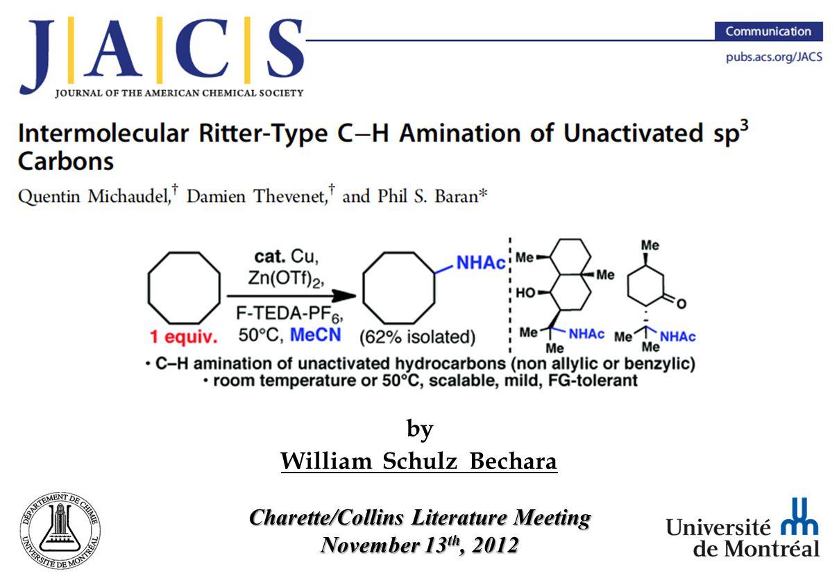 C-H Amination with Inexpensive Source of Nitrogen 17 Michaudel, Q.; Thevenet, D.; Baran, P.
