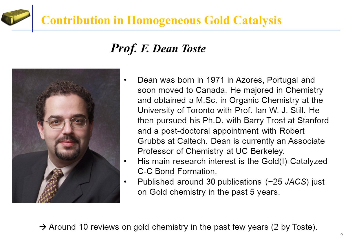 20 Catalytic Cycle F. Dean Toste J. Am. Chem. Soc., 2008, 130, 4517