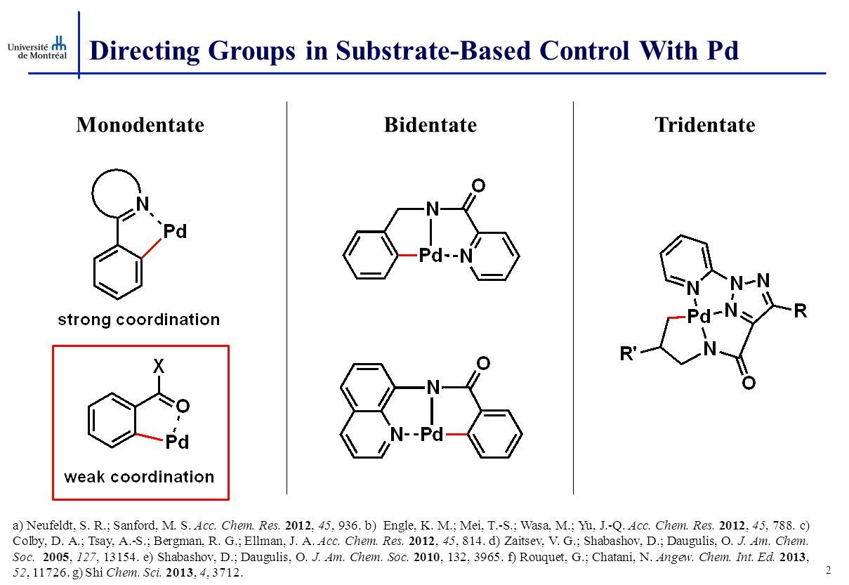 a) Neufeldt, S.R.; Sanford, M. S. Acc. Chem. Res.