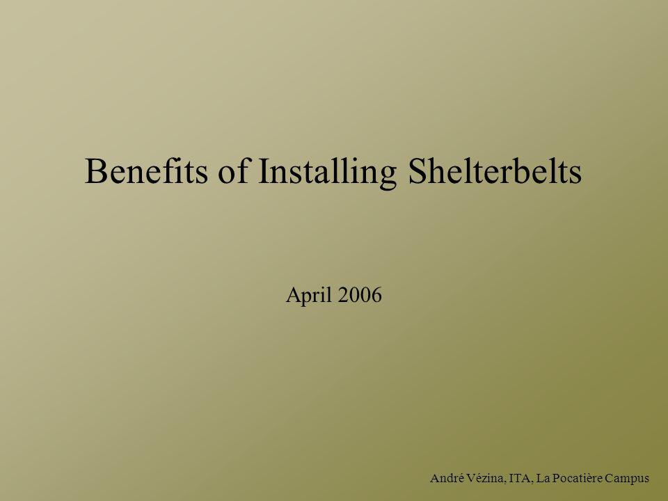 André Vézina, ITA, La Pocatière Campus Benefits of Installing Shelterbelts April 2006