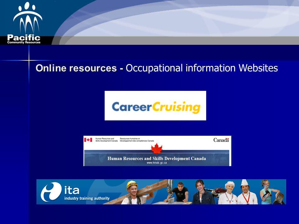 Online resources - Online resources - Occupational information Websites