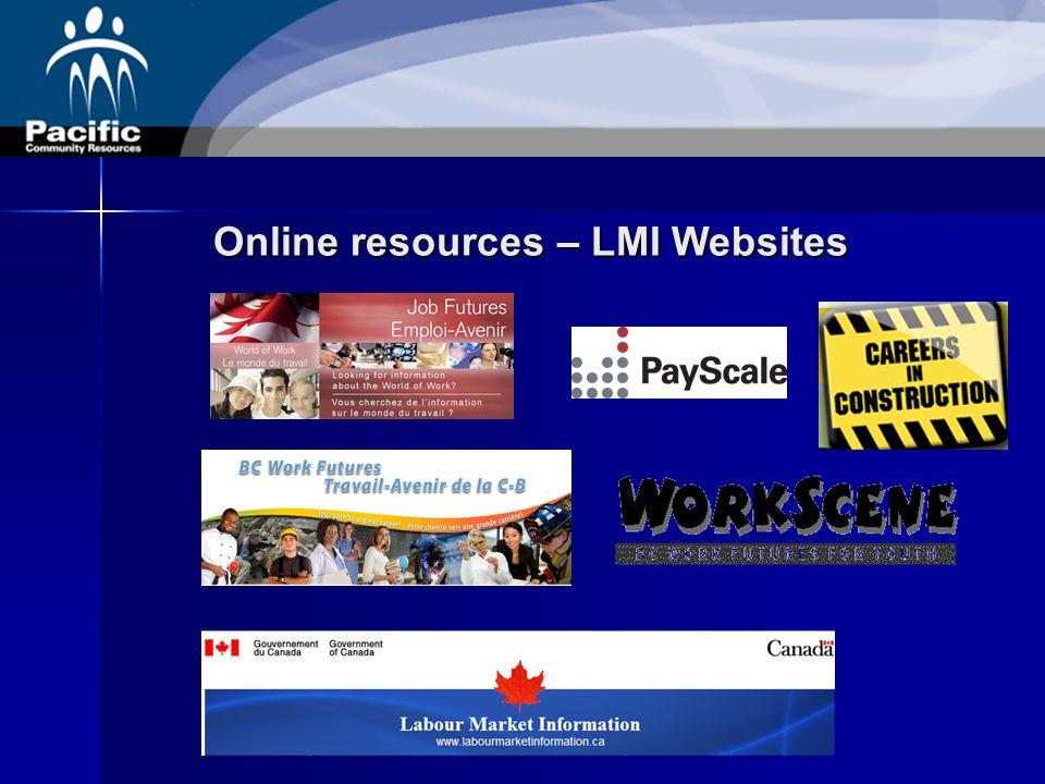 Online resources – LMI Websites