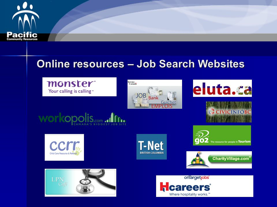 Online resources – Job Search Websites