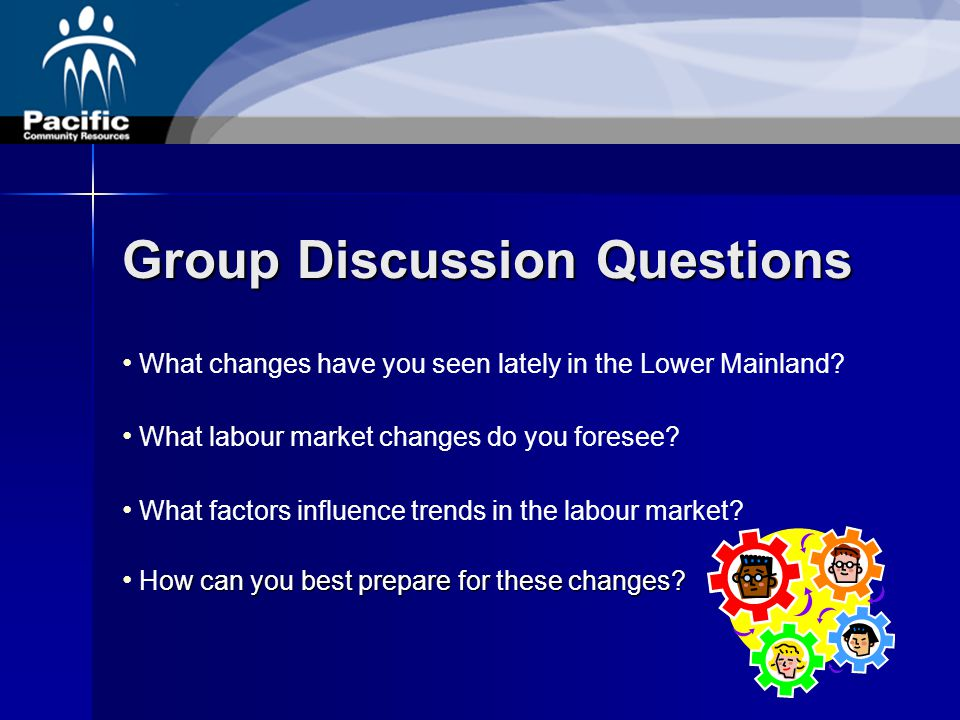 Group Discussion Questions What changes have you seen lately in the Lower Mainland.