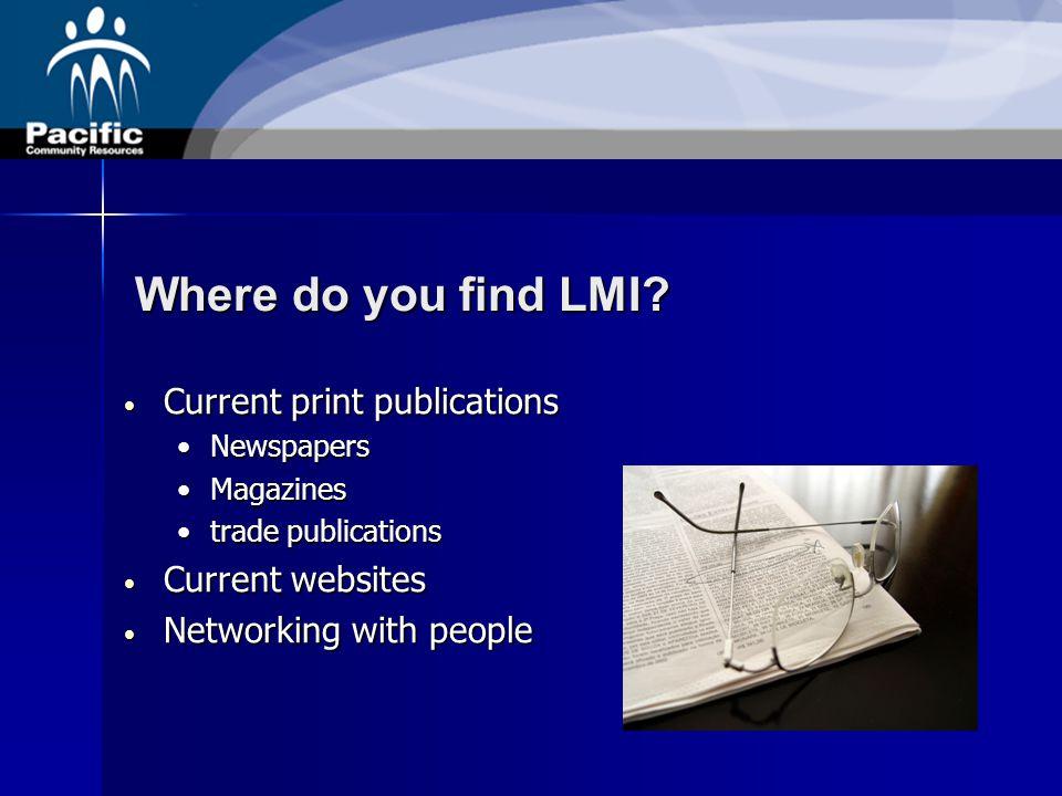 Where do you find LMI.