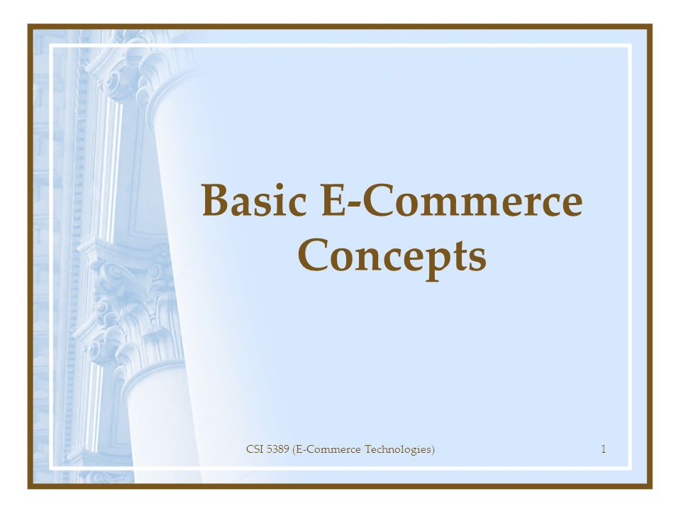 Business Issues in Internet Commerce Internet commerce is about business: using the network effectively to achieve business goals.