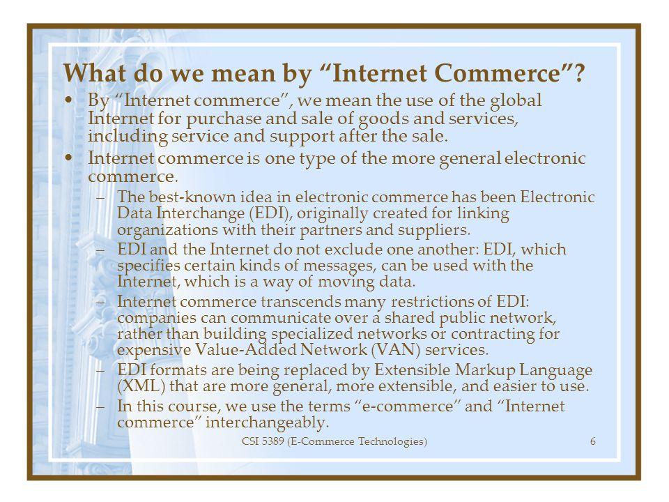 The Commerce Value Chain (CVC) 1.