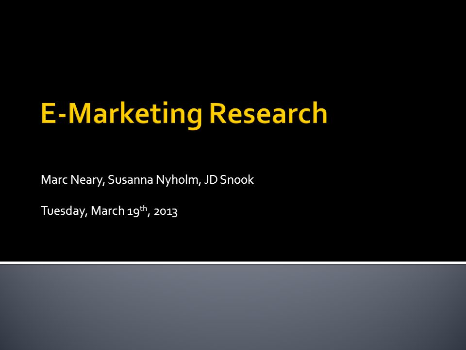 Marc Neary, Susanna Nyholm, JD Snook Tuesday, March 19 th, 2013