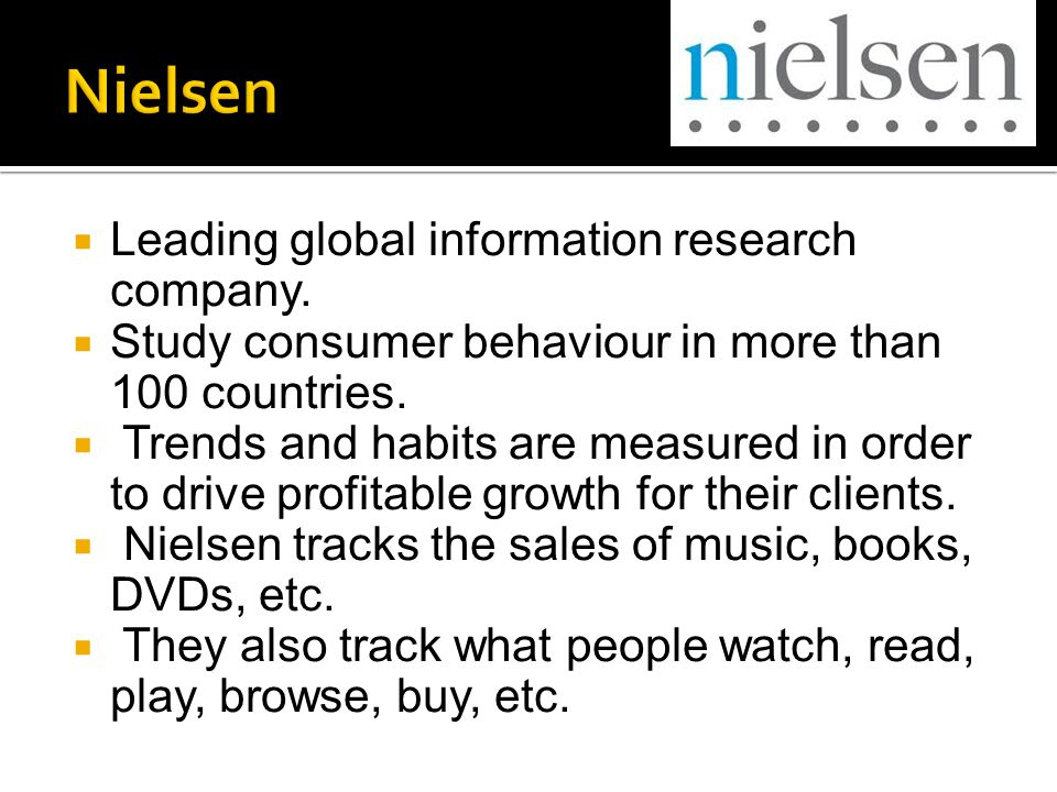  Leading global information research company.