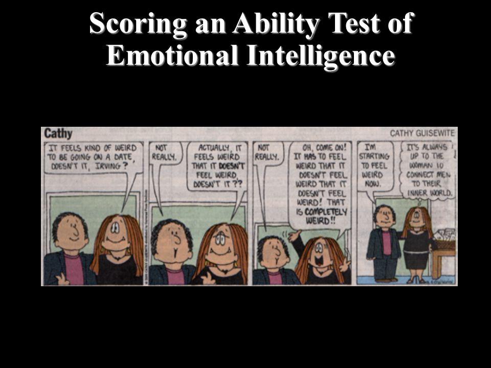 Scoring an Ability Test of Emotional Intelligence