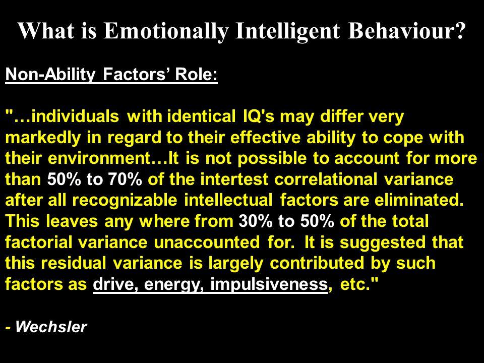 Non-Ability Factors' Role: