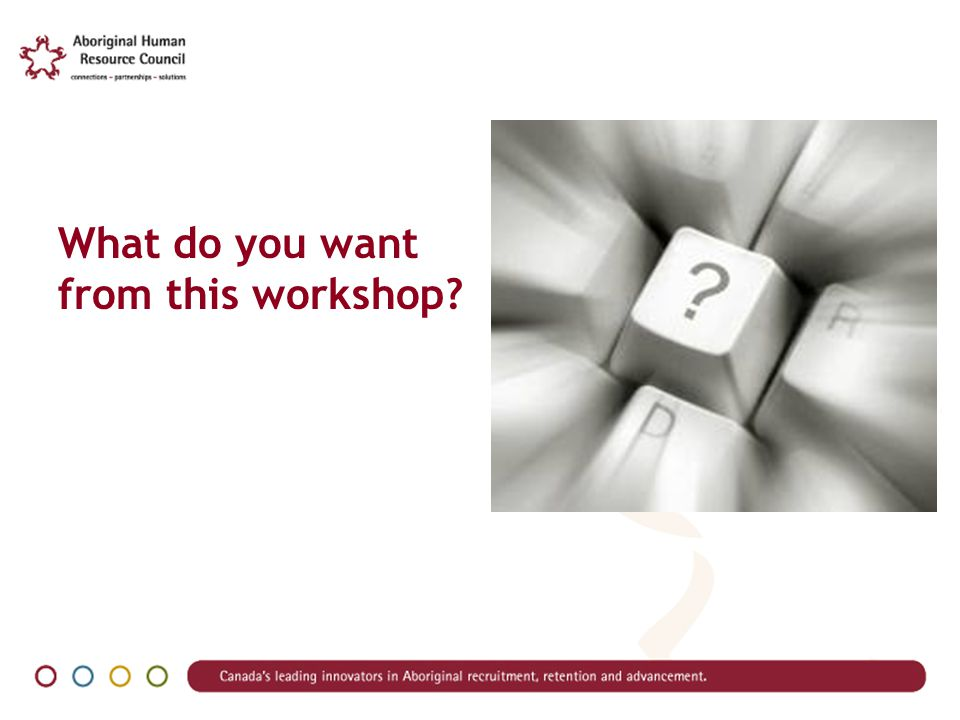 What do you want from this workshop?