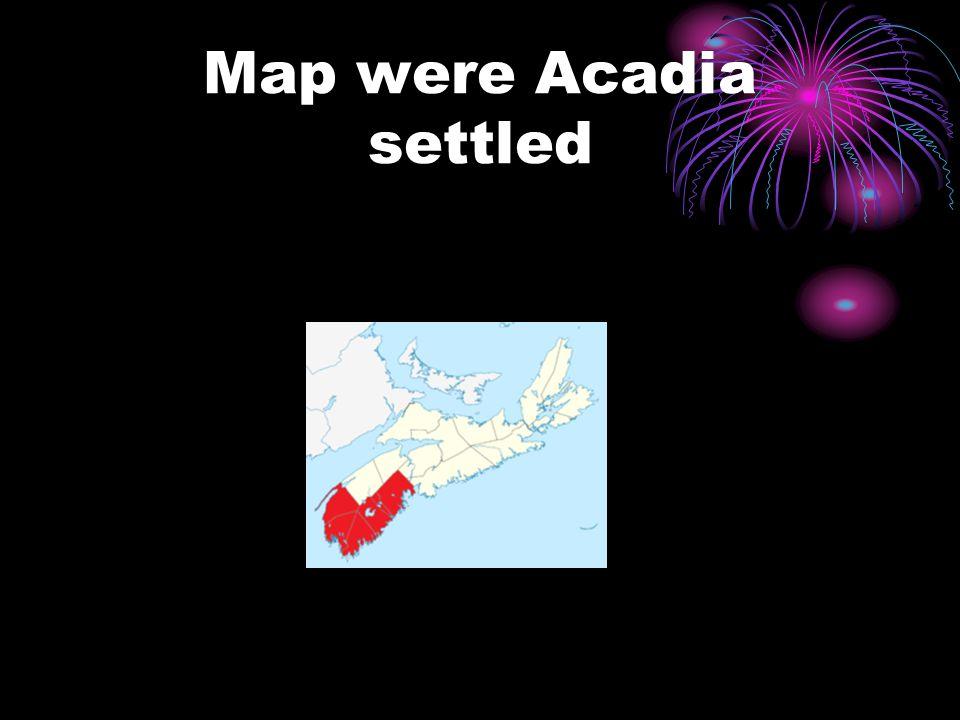 Map were Acadia settled