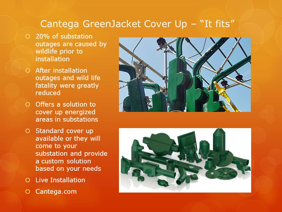 References -AltaLink (http://www.altalink.ca)http://www.altalink.ca -US Forestry Department (http://www.fs.fed.us)http://www.fs.fed.us -Cantega Industries (http://www.cantega.com)http://www.cantega.com -Preformed Line Products (http://www.preformed.com)http://www.preformed.com -PR Tech (http://www.pr-tech.com)http://www.pr-tech.com -Zena Design (http://www.zenadesign.com)http://www.zenadesign.com -Analysis of Factors Contributing To Unexplained Transmission Line Faults on a High Voltage Transmission Network (Bekker, Hoch)Analysis of Factors Contributing To Unexplained Transmission Line Faults on a High Voltage Transmission Network