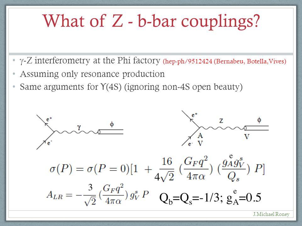 What of Z - b-bar couplings.