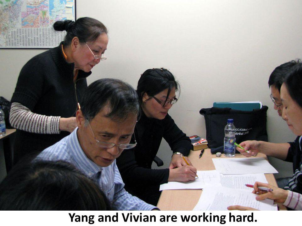 Vivian Yang Harry Yang and Vivian are working hard.