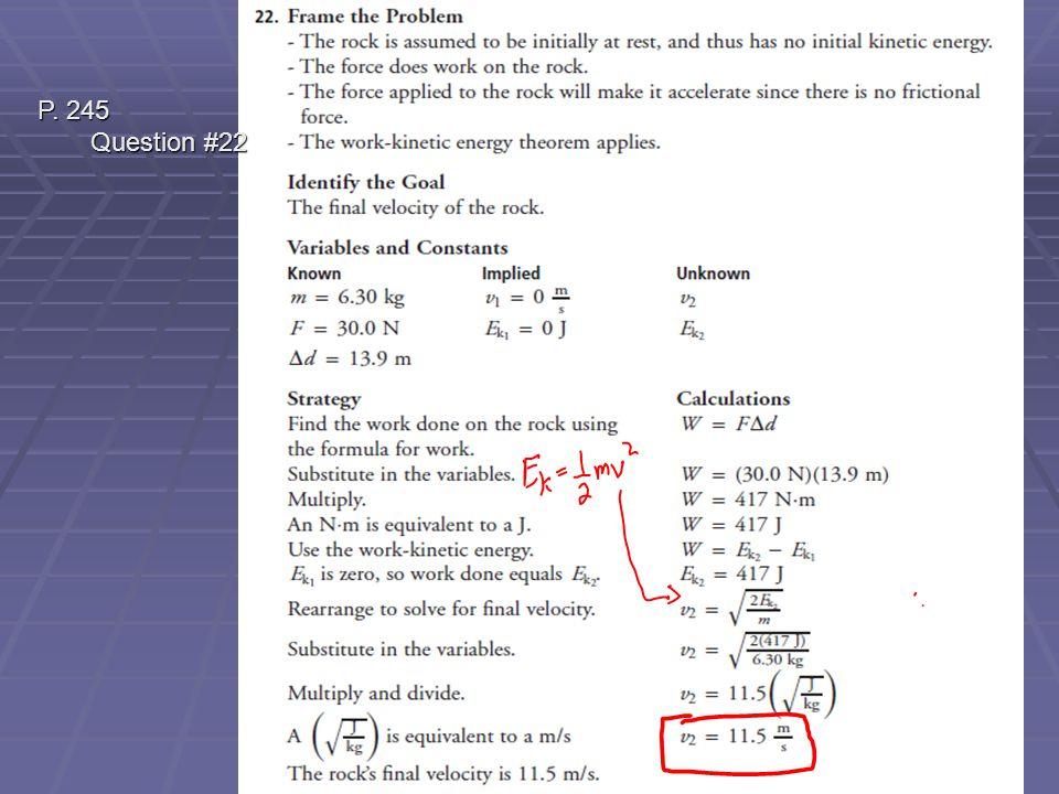 P. 245 Question #22