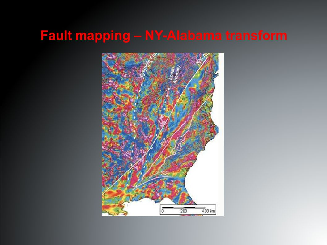 Fault mapping – NY-Alabama transform