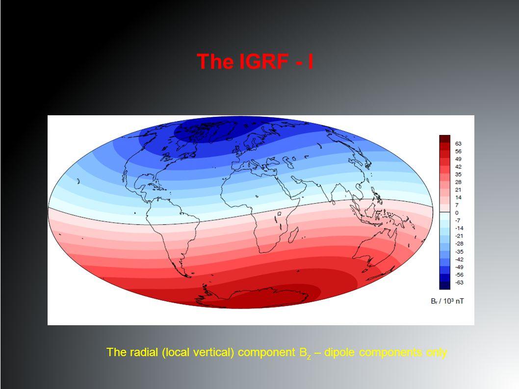 The IGRF - II The total field |B| – degree 13 (i.e.