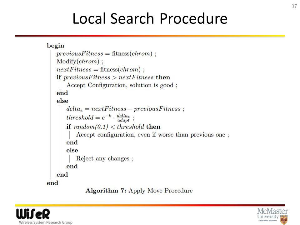 Local Search Procedure 37