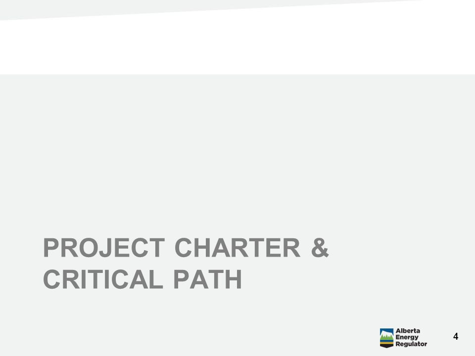 PROJECT CHARTER & CRITICAL PATH 4