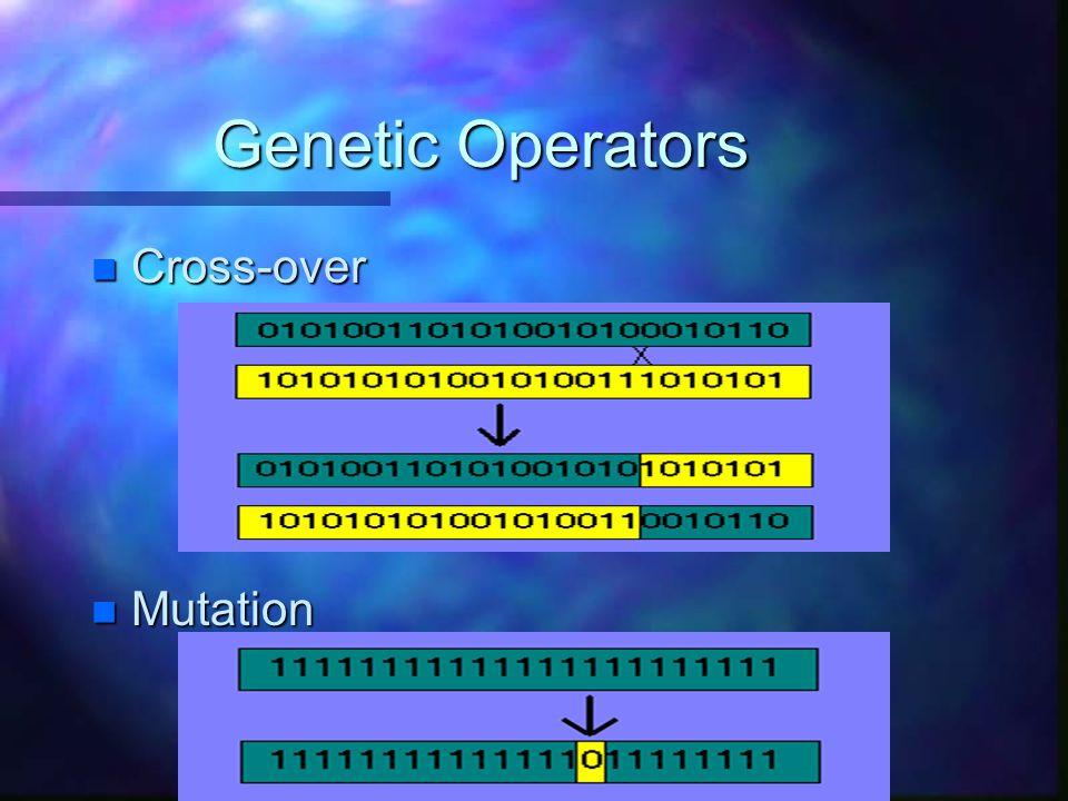 Genetic Operators n Cross-over n Mutation
