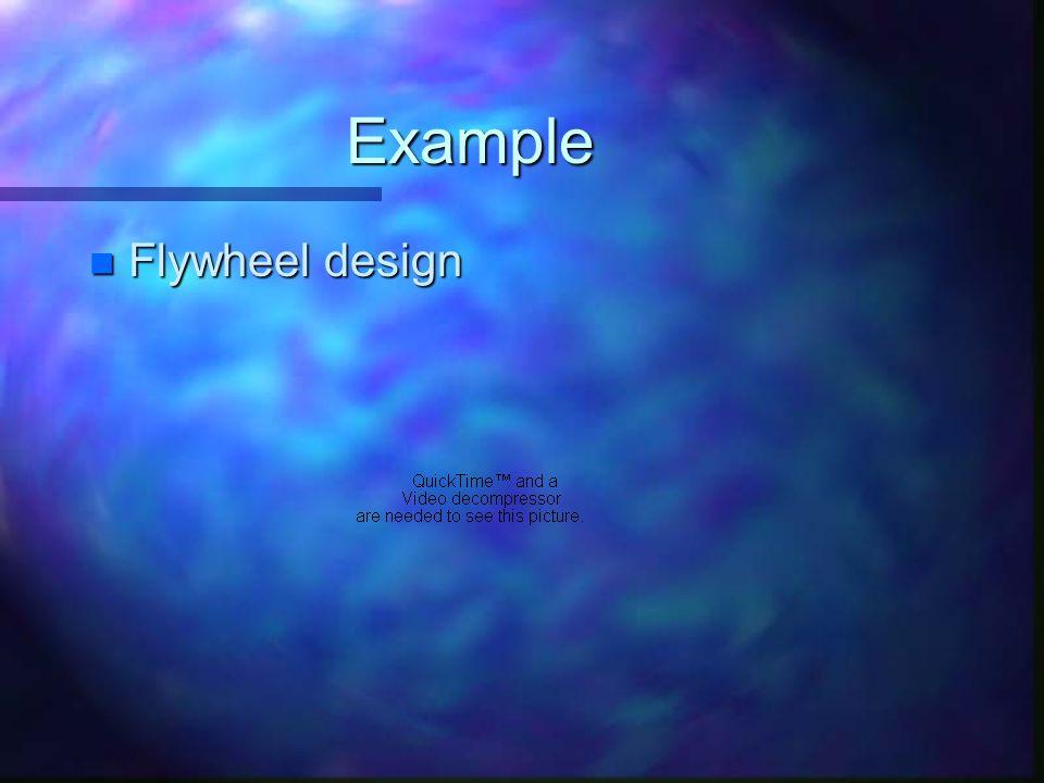 Example n Flywheel design