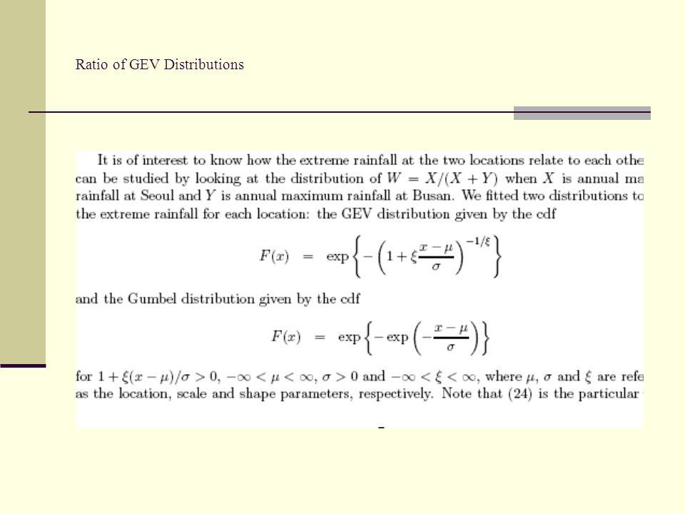 Ratio of GEV Distributions