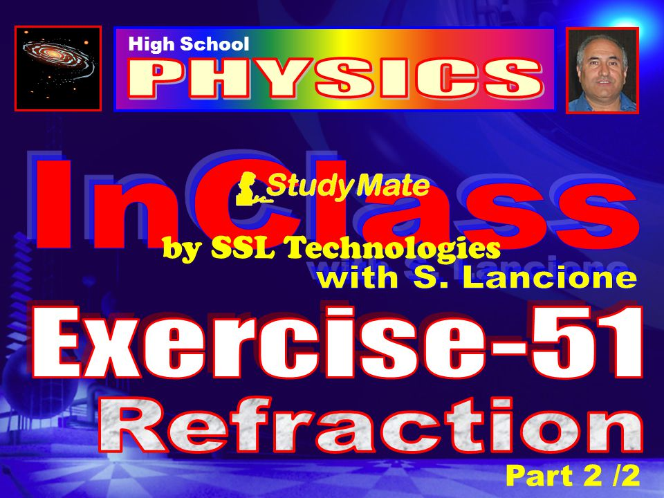 Physics Ex-51 Question-6 A ray of light is incident upon an isosceles glass prism whose index of refraction is 1.50.