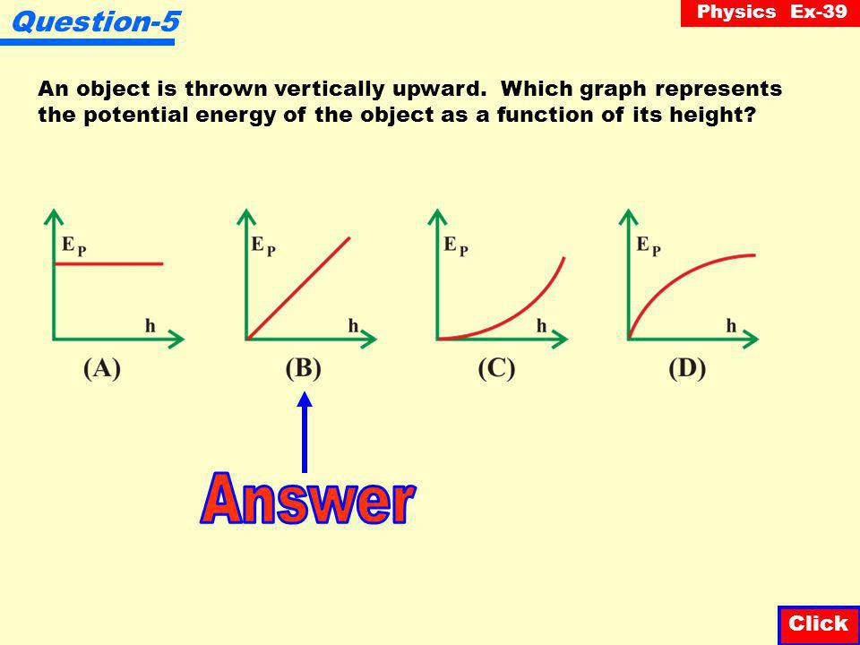Physics Ex-39 Question-4 An empty swing is at its highest point 3 m from the ground and at its lowest point 1 m from the ground.