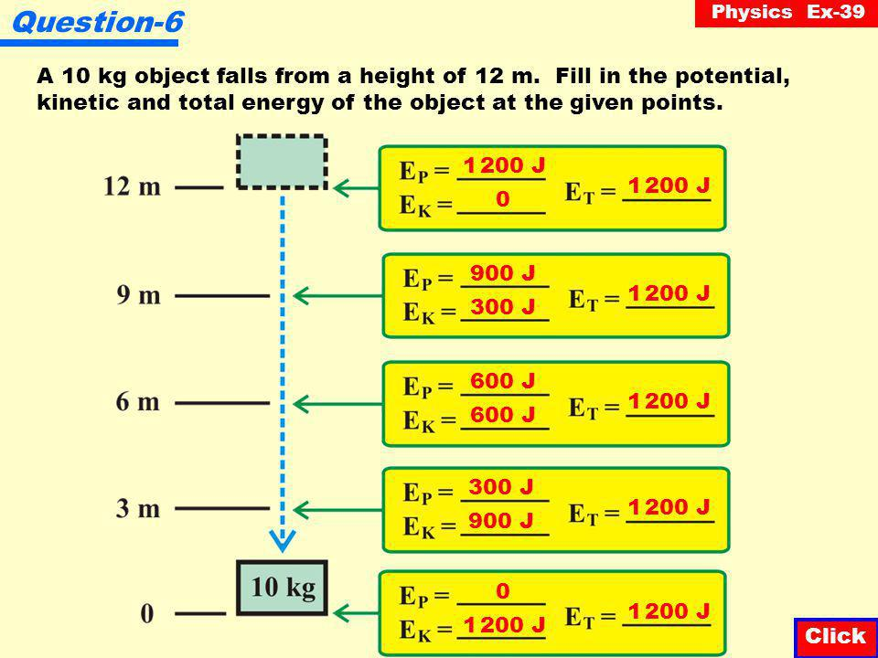 Physics Ex-39 Question-5 An object is thrown vertically upward.