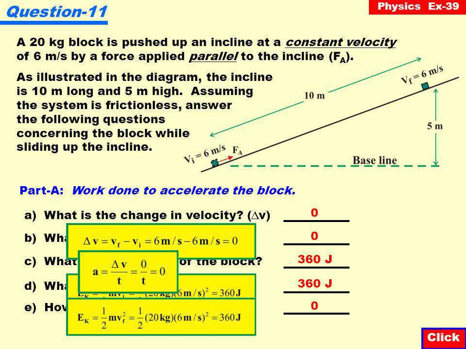 Physics Ex-39 Question-10 Which of the following graphs correctly illustrates the relationship between the kinetic energy of a car versus its velocity.