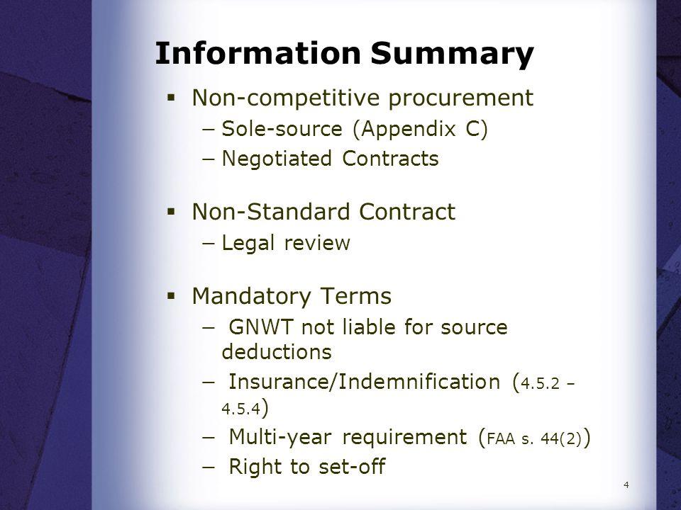 Information Summary  Violations Reporting −FAM 4101 (Loss of Cash/Assets)  Vendor Complaint Process  Contract vs Transfer Agreement (Appendix D) 5