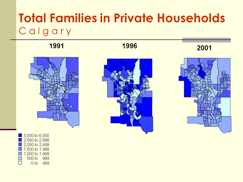 Total Families in Private Households C a l g a r y