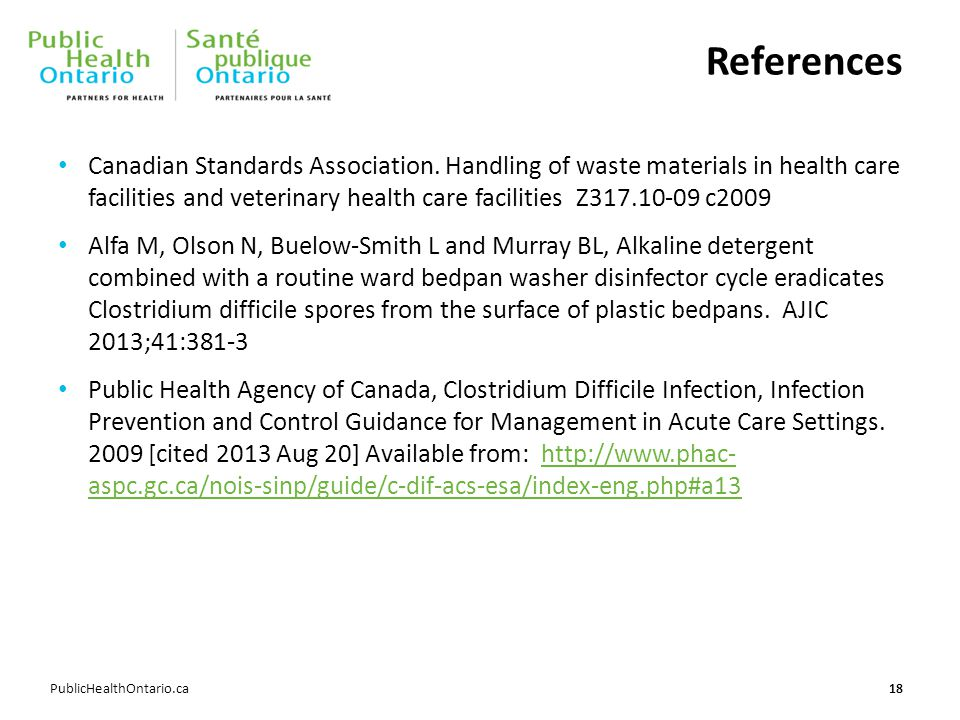 References Canadian Standards Association.