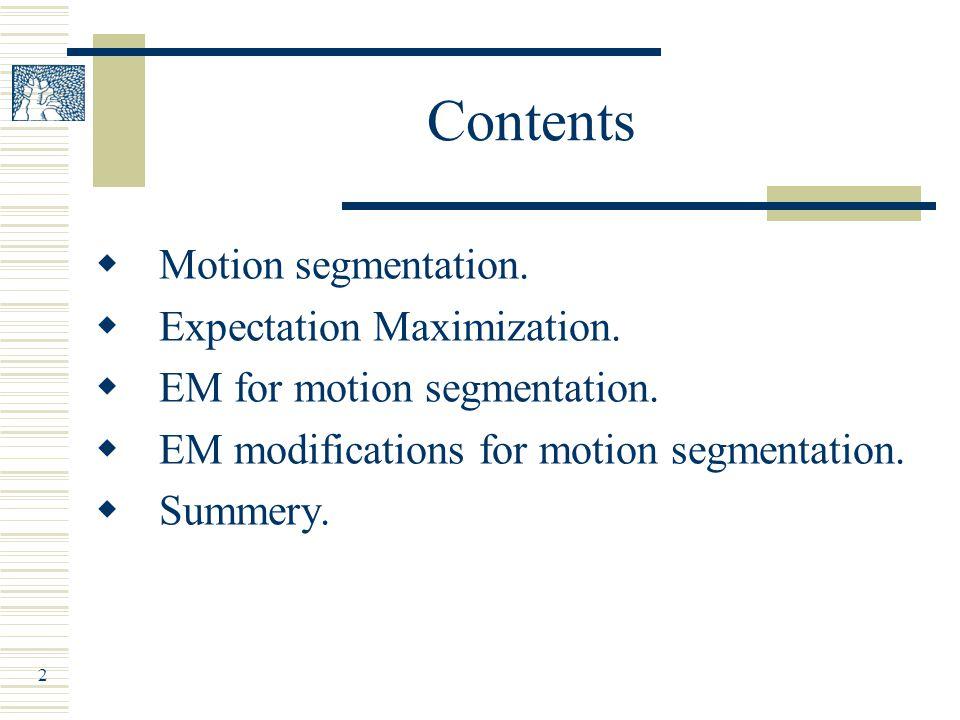 Part 1: Motion Segmentation
