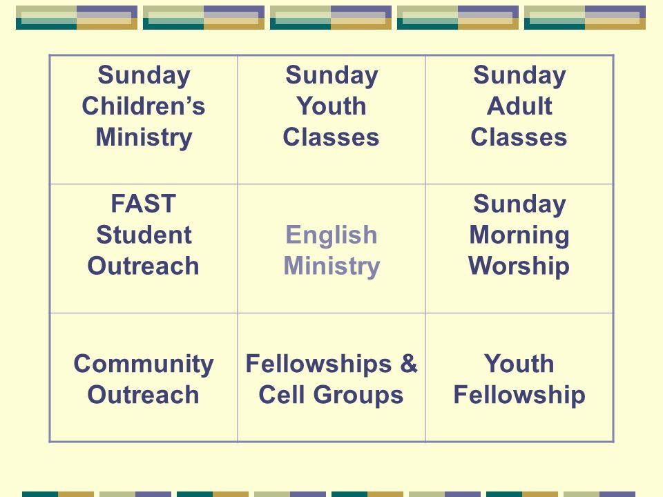 Sunday Children's Ministry Teachers & Helpers Gr.1&2—L.