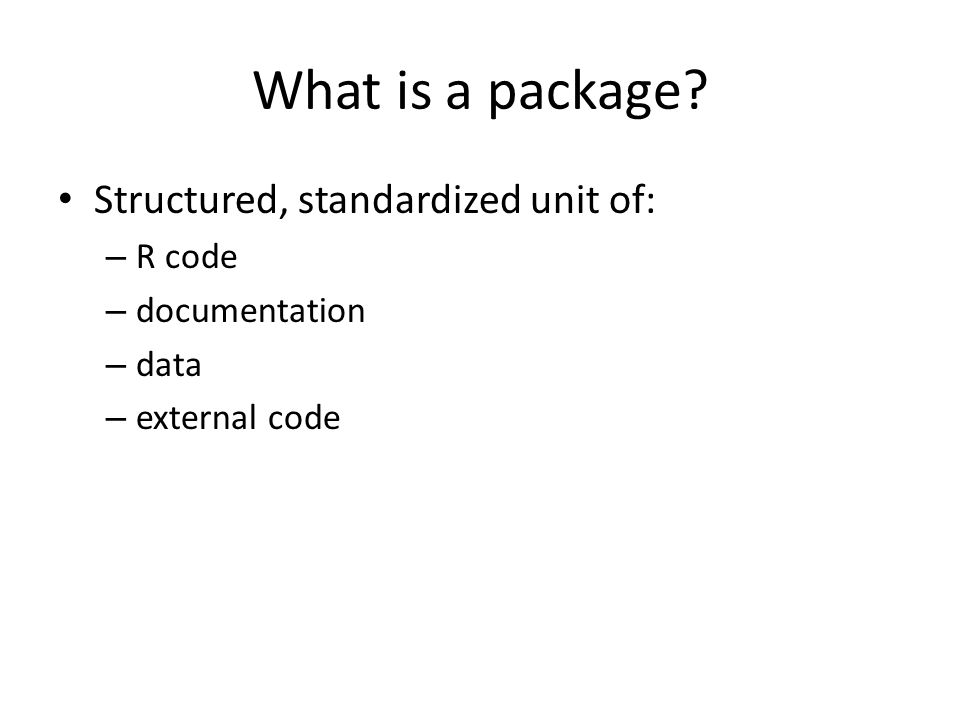What is a package.