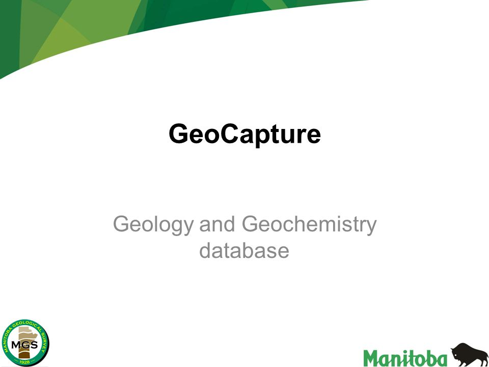 GeoCapture Geology and Geochemistry database