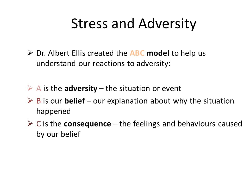 Stress and Adversity  Dr.